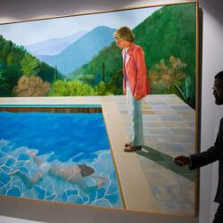 Billionaire Joe Lewis Sells Hockney Painting For Record $90.3 Million