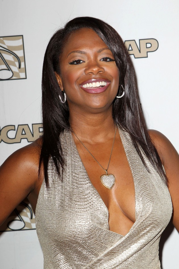 Kandi Burruss Silver Dress