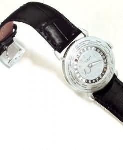 Platinum World Time wristwatch by Patek Philippe