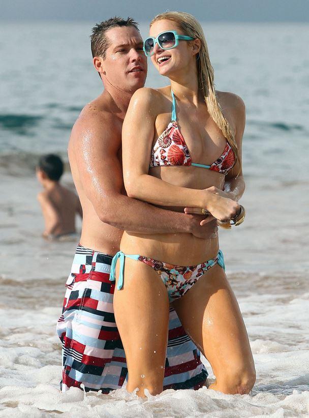 Cy Waits and Paris Hilton