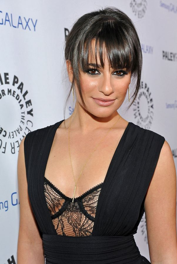 Lea Michele black dress