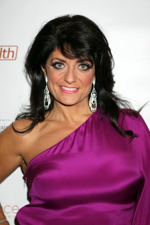 Kathy Wakile purple dress.