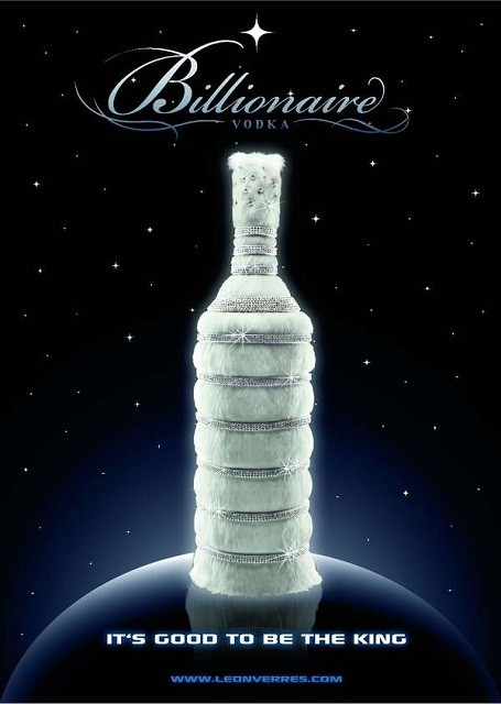 Le Billionaire Vodka with tailored cover