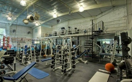 Full-size gym in Mark Wahlberg's Beverly Hills Estate