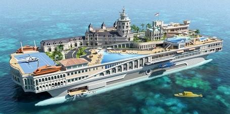 The Streets of Monaco themed mega-yacht