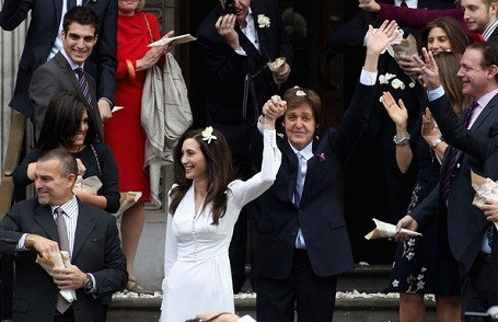 McCartney and wife Nancy Shevell among their wedding crowd