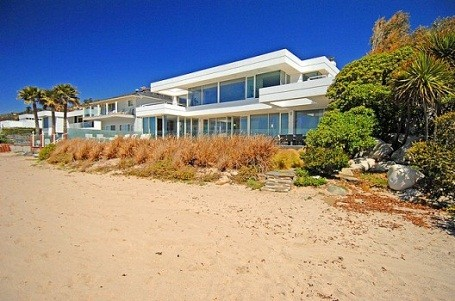 Paul Allen's $25 million home on carbon beach, in Malibu, California
