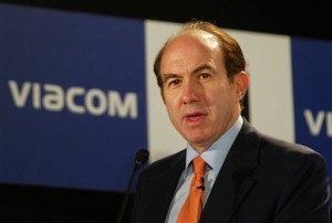 How much is Philippe Dauman's salary at Viacom