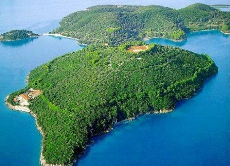 This private island is owned by the Onassis family