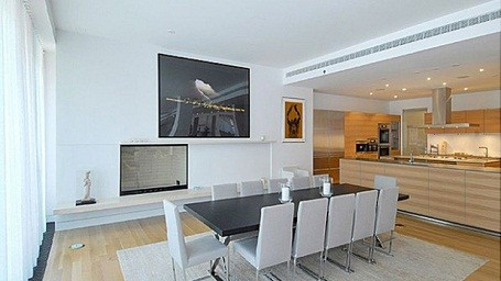Will Smith's dining room in his NYC rental condo while filming Men in Black 3