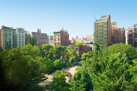 View from Jennifer Aniston's Gramercy Park condo in Manhattan, New York City