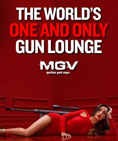 """Machine Guns Vegas"" is the world's first luxury VIP gun lounge in Las Vegas, Nevada."