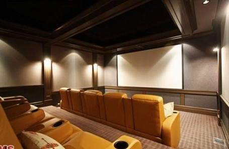Home theater in Matt Groening's guest house in Santa Monica, California