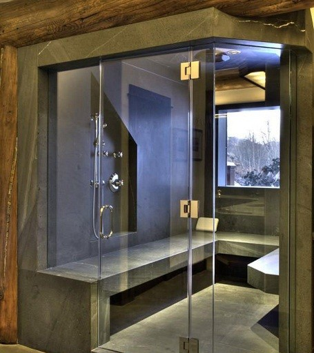 Granite shower in Bruce Willis's home for sale.