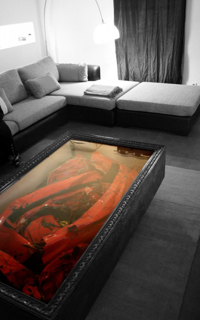 Wrecked Ferrari Coffee Table