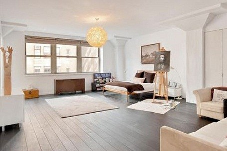 Damon Dash's bedroom in his foreclosed Tribeca loft.