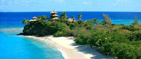Bali beach on Richard Branson's Necker Island
