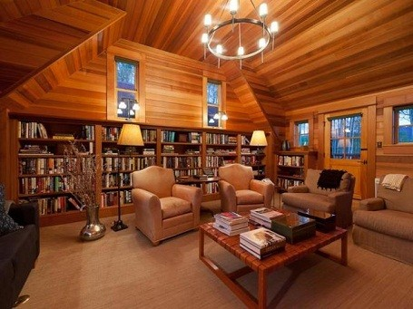 Library in Jerry Seinfeld's Colorado vacation home