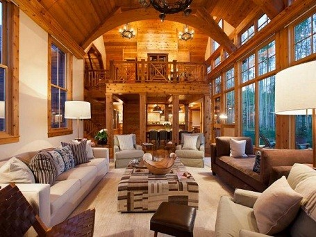 Jerry Seinfeld's living room in his Colorado home