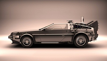 Custom built Back to The Future DeLorean for Project Dreamport
