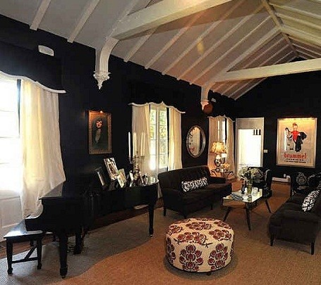 Piano in Taylor Swift's living room in Nashville, Tennessee.