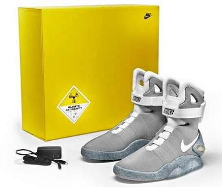 "Nike Air Mag ""Back to the Future"" sneakers for Project Dreamport."