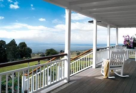 Ocean view porch from Oprah's home in Maui, Hawaii.