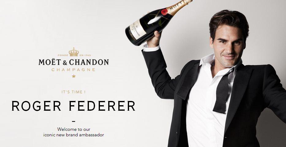 Roger Federer Moet