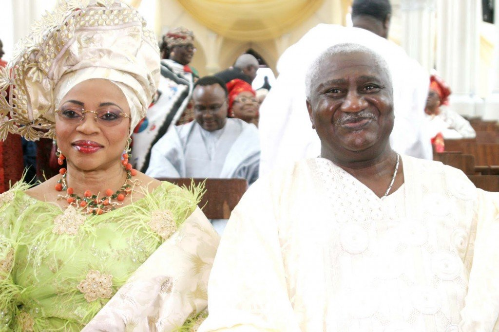 Folorunsho Alakija and Husband Modupe
