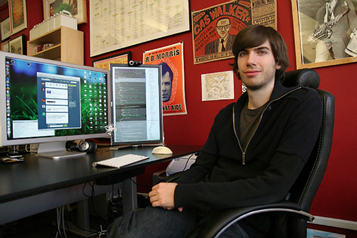 David Karp at his desk