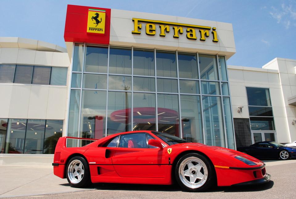 Red Ferrari F40