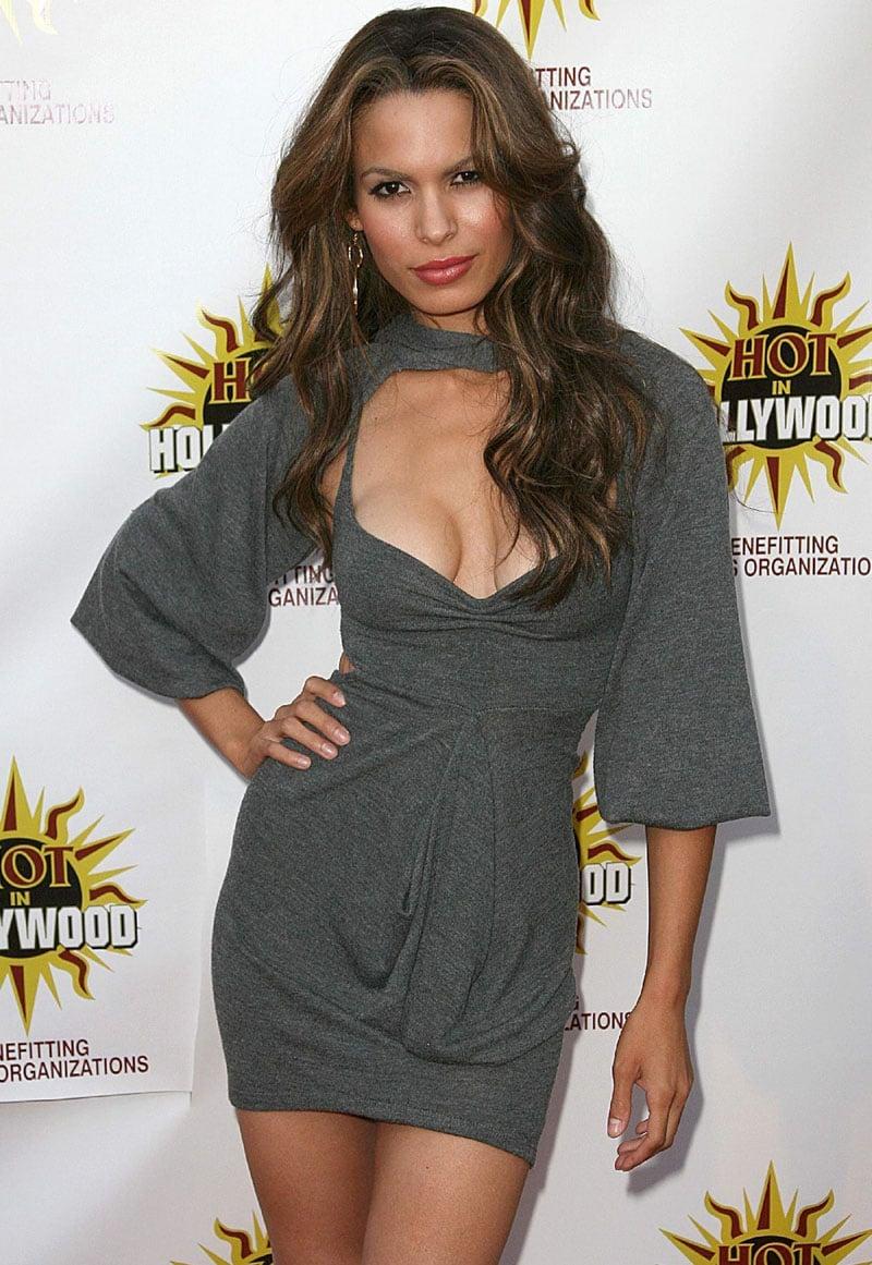Nadine Velazquez short skirt cleavage