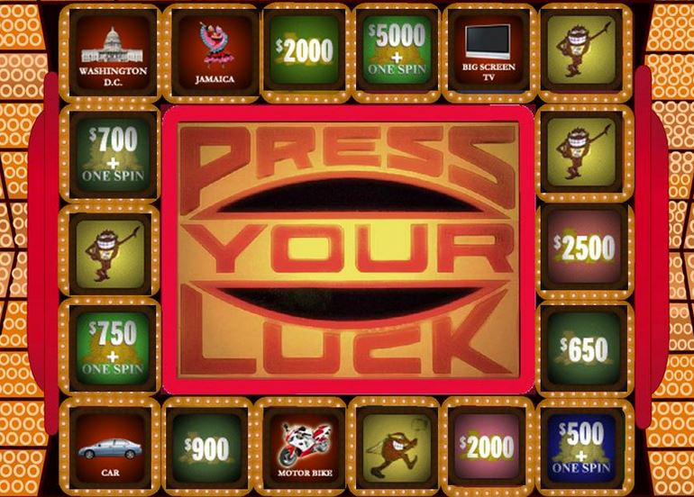 Press Your Luck Game Board