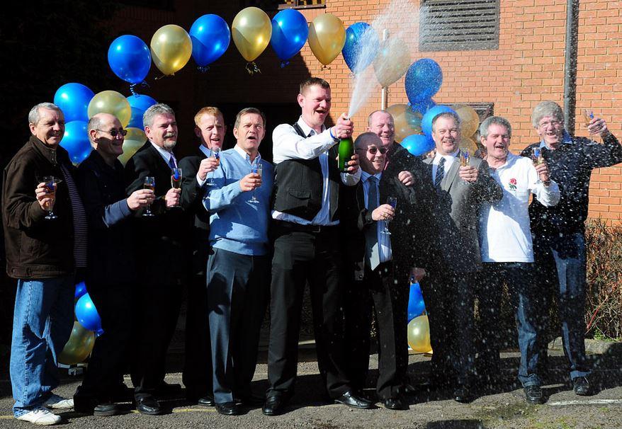 Lottery Winners Celebrate