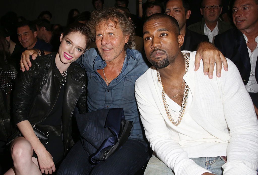 Model Coco Rocha, fashion designer Renzo Rosso and musician Kanye West