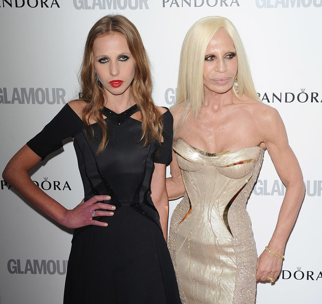 Allegra and mother Donatella