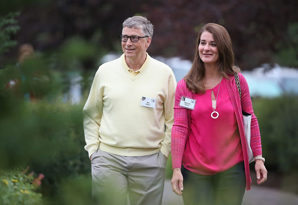 Bill Gates, chairman and founder of Microsoft Corp., and his wife Melinda