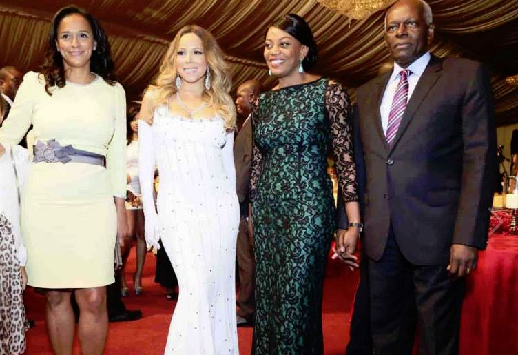 Mariah Carey and the Angolan First Family