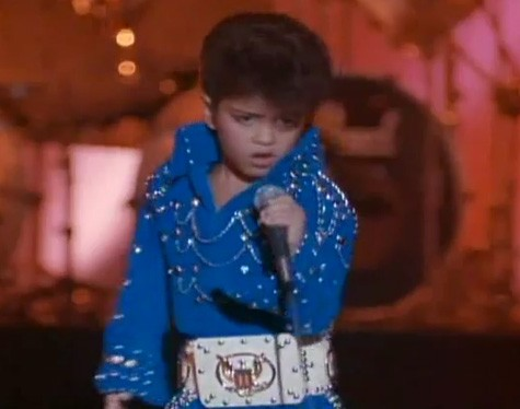 Young Bruno Mars as Elvis