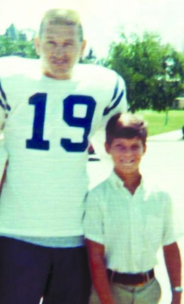 Johnny Unitas and Stephen Bisciotti