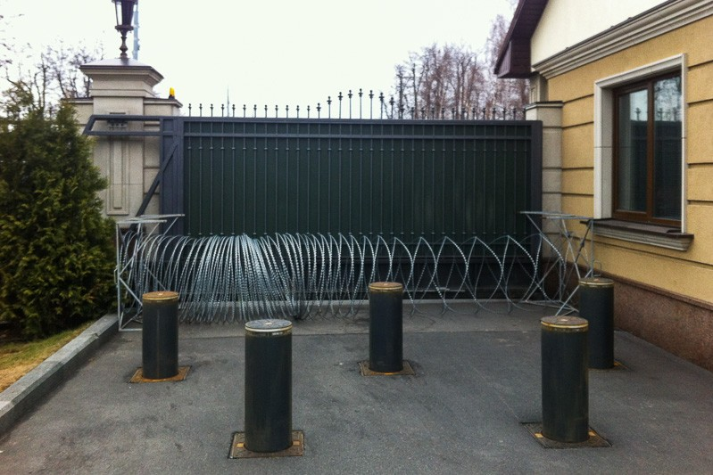 Barbed Wire Gate