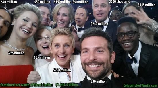 Combined Net Worth of Ellen's Selfie