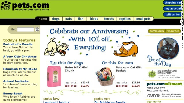 Pets.com Homepage IN 2000