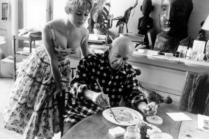 With actress Brigitte Bardot