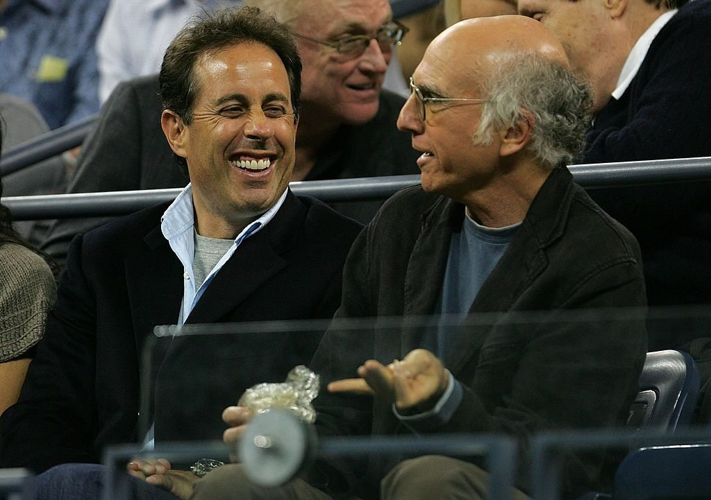 Larry David (R) and Jerry Seinfeld