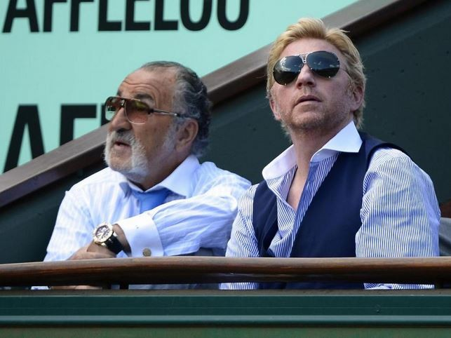 With Boris Becker