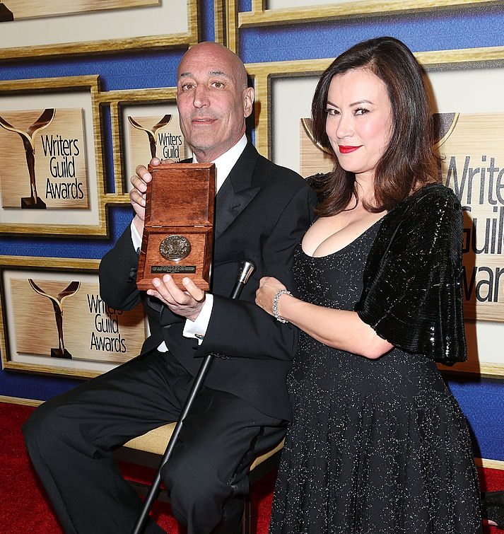 Sam Simon and Jennifer Tilly