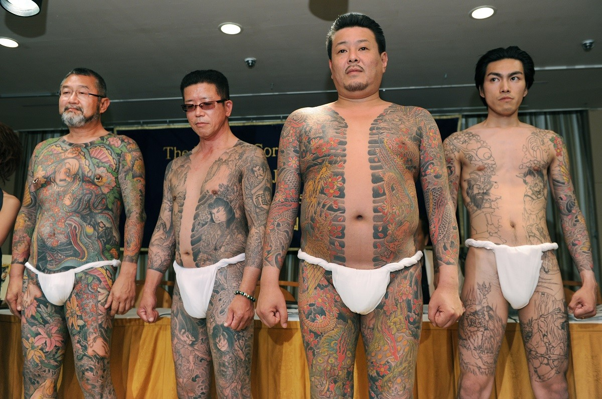 Yakuza Members Show Tattoos/Getty Images