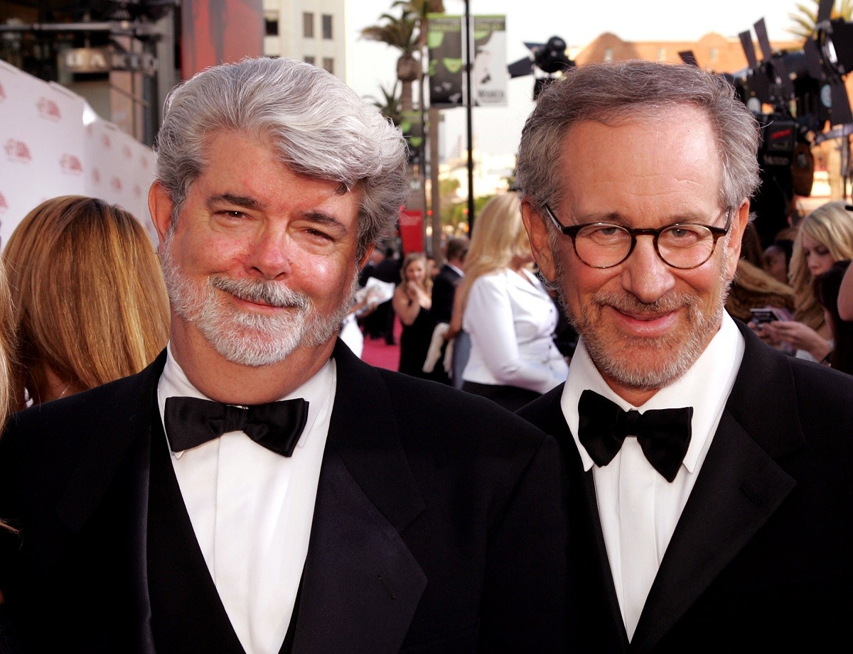 "George And His ""Poor"" Friend Steven Spielberg, (Getty)"