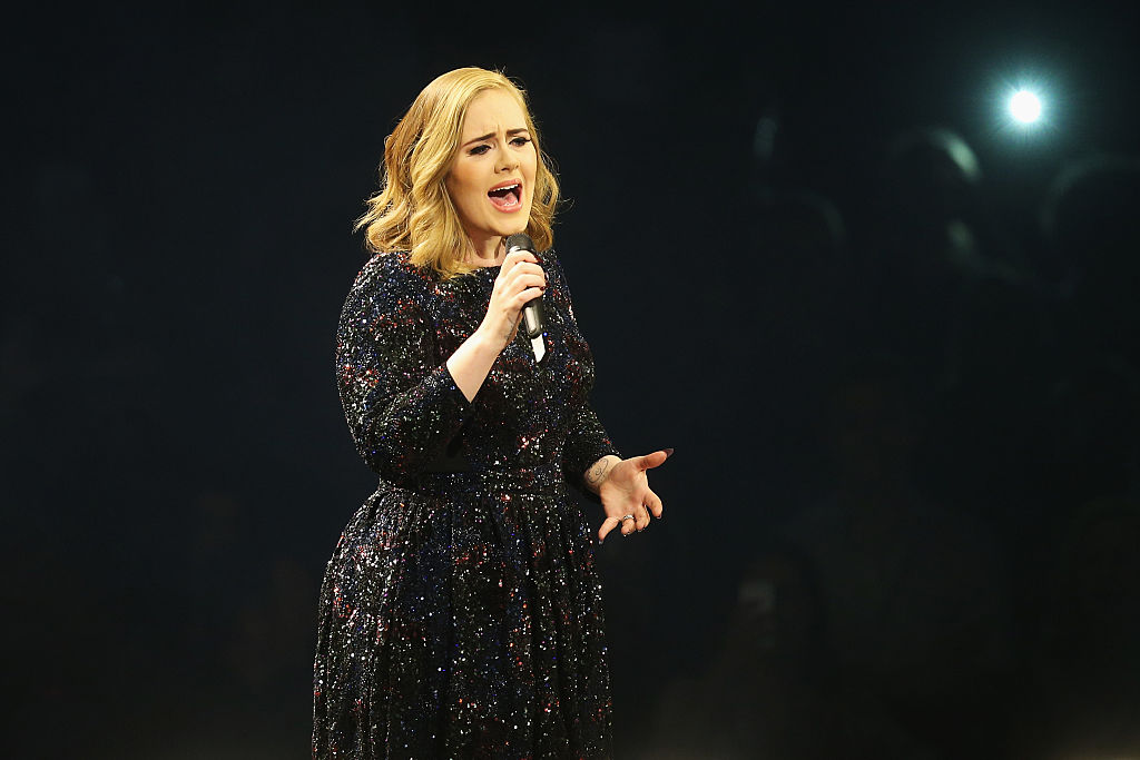 HAMBURG, GERMANY - MAY 10: Adele performs at Barclaycard Arena on May 10, 2016 in Hamburg, Germany. (Photo by Joern Pollex/Getty Images for September Management)